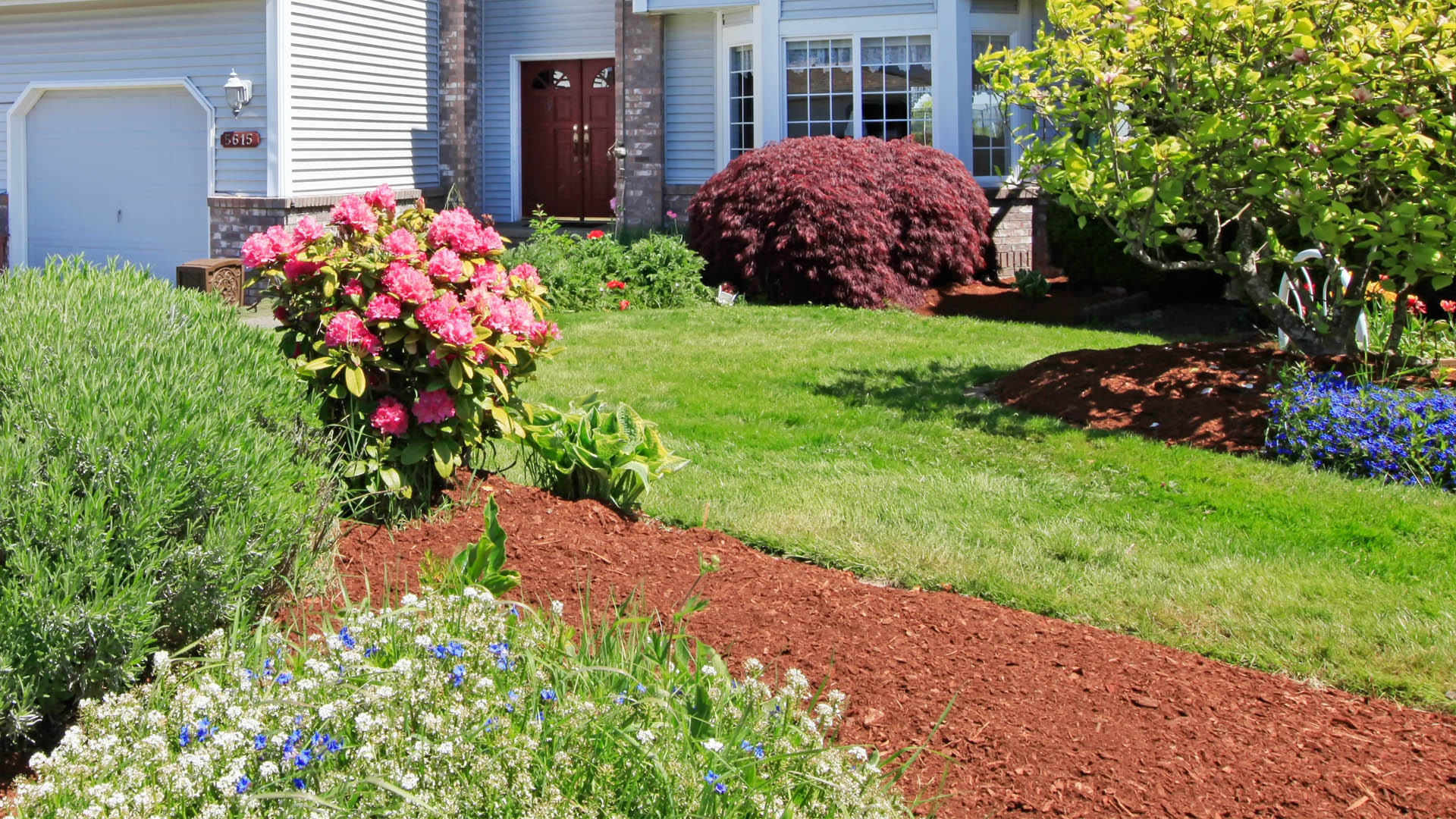 Professional landscaping design and installation service.