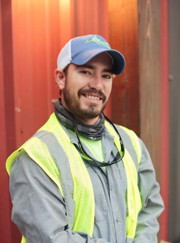 CJ Farris truly enjoys and takes pride in his working within the landscape industry.